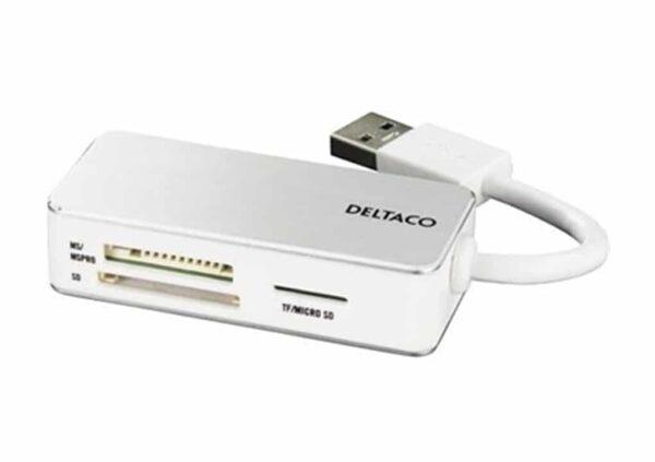 Deltaco 3-slot USB-A muistikortinlukija