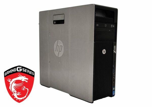 HP Z620 Pelitietokone E5-1620/16GB/240SSD+1TBHDD/GTX1660